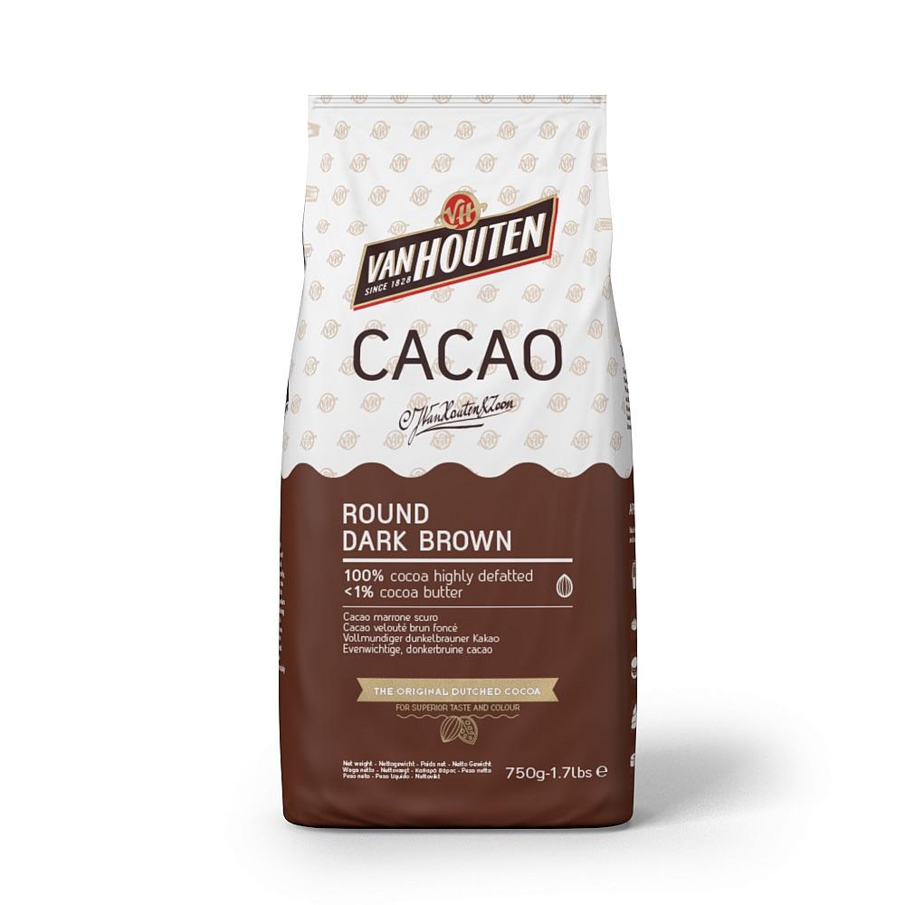 Van Houten Kakao (Callebaut) Round Dark Brown