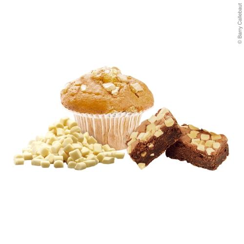 Muffin mit backfesten weißen Chunks von Callebaut
