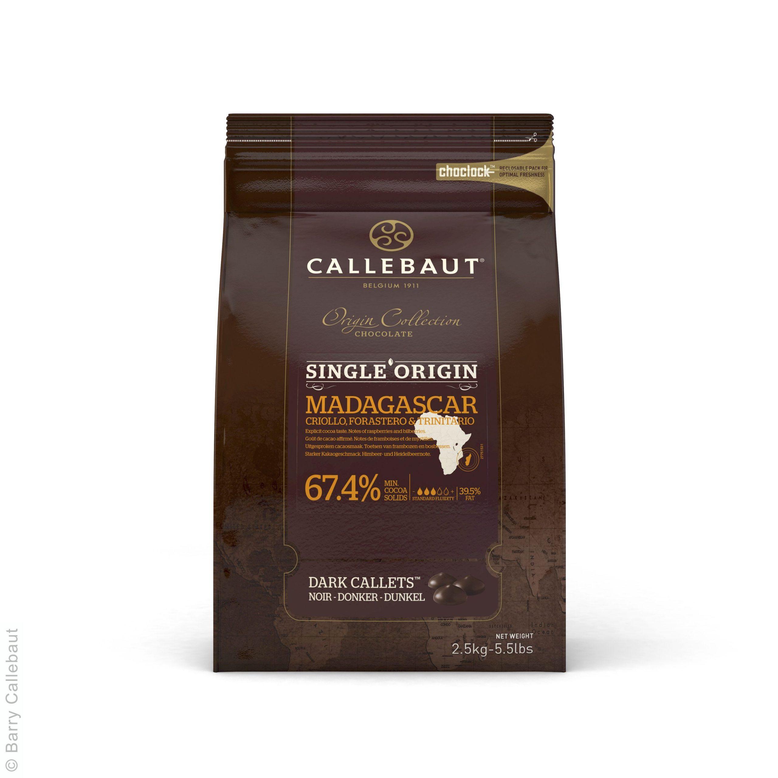 dunkle Madagaskar Schokolade von Callebaut in Callets