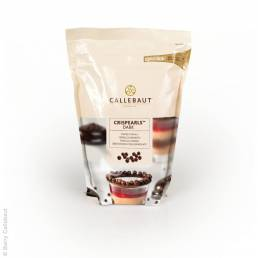 Dark Crispearls Verpackung von Callebaut - dunkle Schokoladendeko