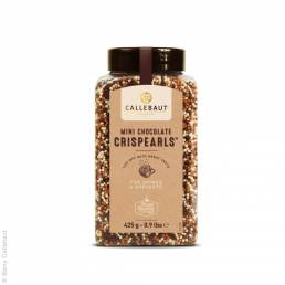 Callebaut Mini Crispearls mit Verpackung Schokoladendeko