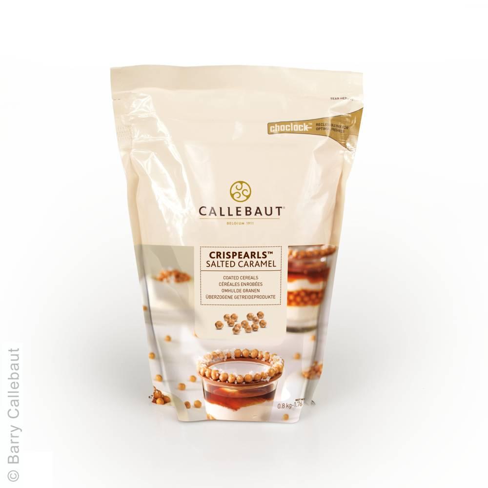 Salted Caramel Crispearls Schokoladendeko von Callebaut